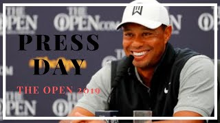 TIGER WATCH Tiger Woods 148th The Open 2019 Press Day Full Conference