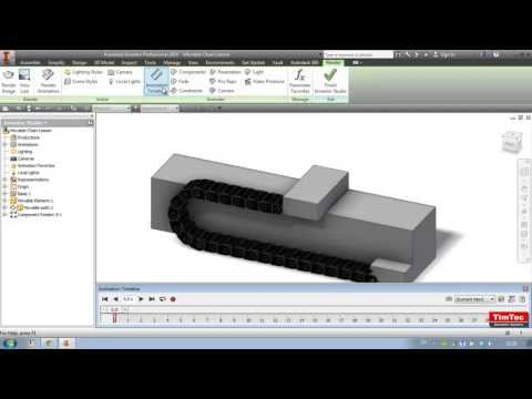 Animated chain (cable carrier) Autodesk Inventor Tutorial