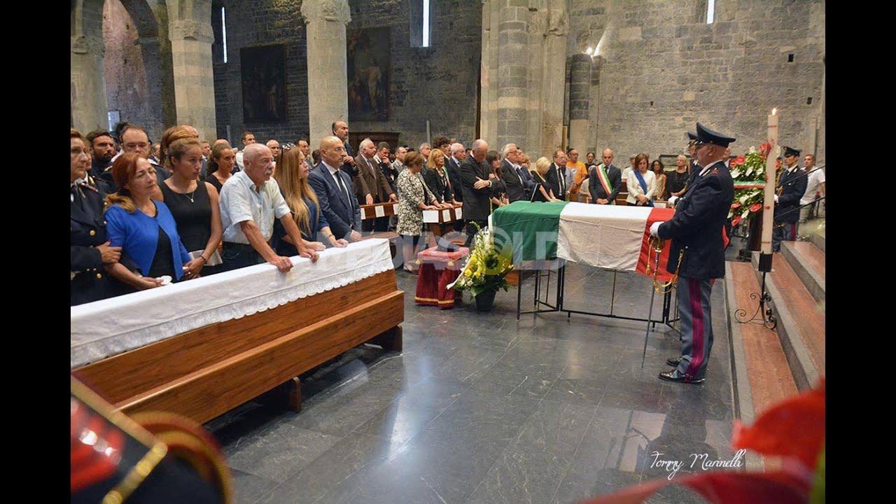 Albenga. I funerali di Stato per l'ultimo saluto a Diego Turra: video #1