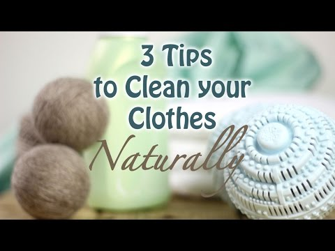 How to Clean Your Clothes Naturally | No Detergent Needed!