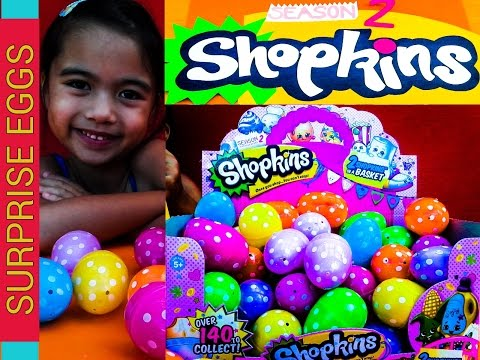 Shopkins Surprise Eggs Season2 Huevos Sorpresa Itlog Na May Lamang Shopkins L Kids Balloons And Toys