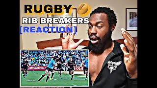 BLACK SUPERMAN REACTS TO [RUGBY] OUTRAGEOUS HITS RIB BREAKERS HD [REACTION]