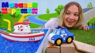 Робокар Поли и Элаяс. Видео для детей: магазин игрушек.
