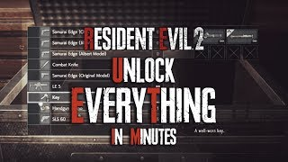 Easy Legit Unlock Rocket Launcher & Everything For Resident Evil 2 (Unlock Everything In Game)