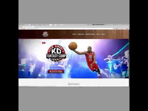 Kevin Durant Fantasy Camp - Website Preview - Heavy Graphics Marketing