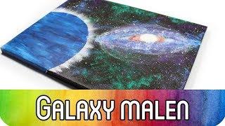 Malen für Anfänger: Galaxy malen mit Acrylfarbe