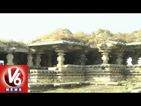 100 Pillar Temple In Bhodan Nizambad is in a state of getting collapsed