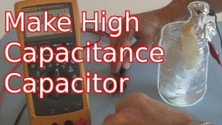 How to Make a High Capacitance Electrolytic Capacitor