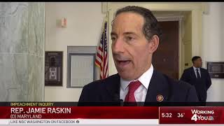 NBC 4 - Raskin Comments During First Public Hearing in Impeachment Investigation