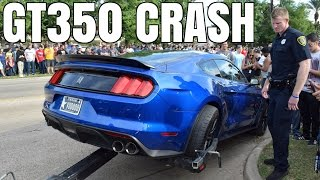 GT350 Mustang CRASHES Leaving Cars & Coffee