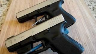 2 bead blasted Glock 23 .40 cals