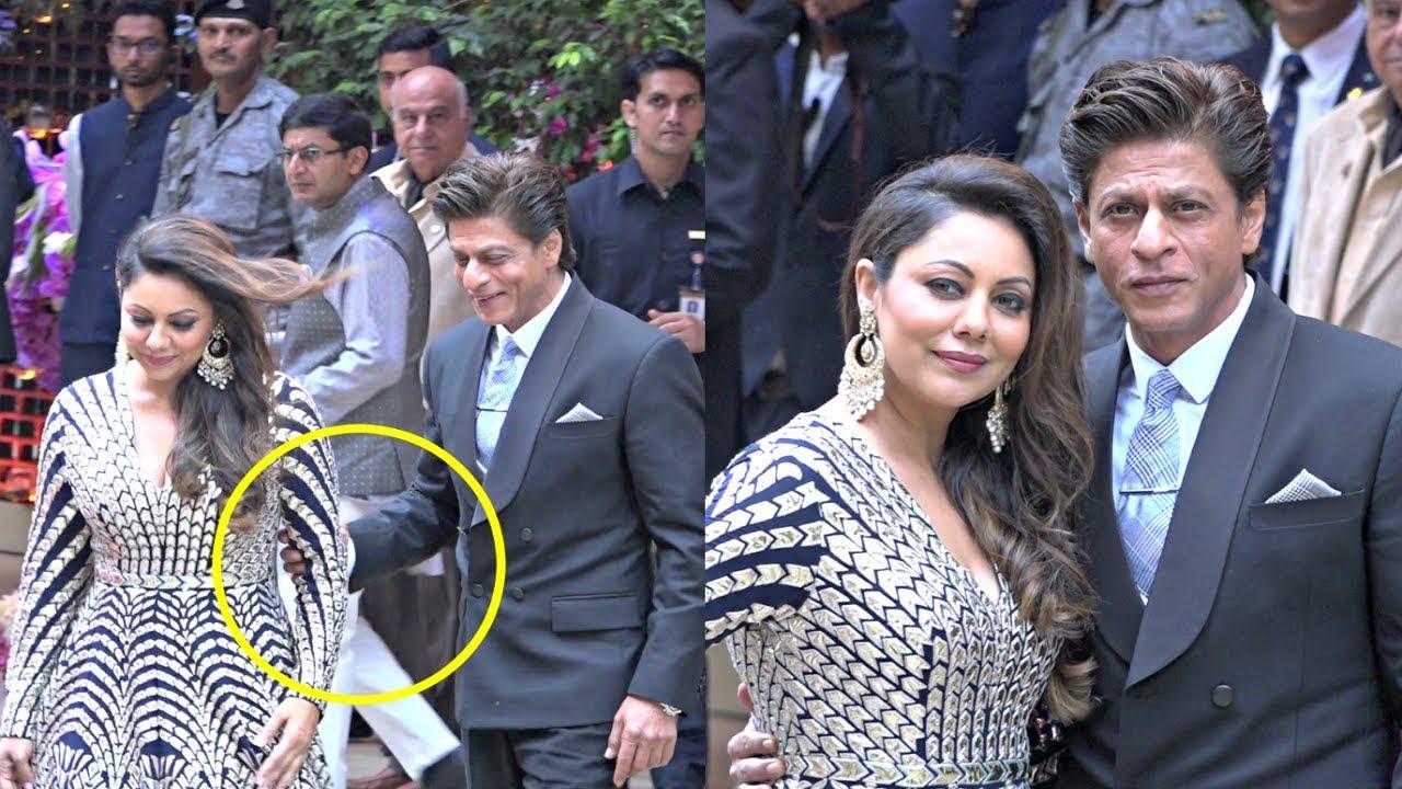 Shahrukh Khan And Gauri Khan Gives Couple Goals At Akash Ambani And Shloka Mehta Engagement