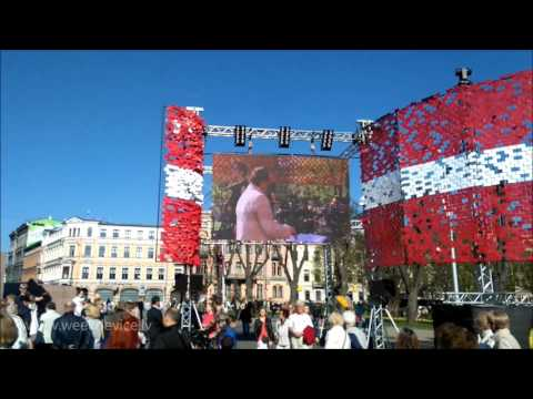 Day of restoration of independence of the Republic of Latvia. Riga. 04.05.2016