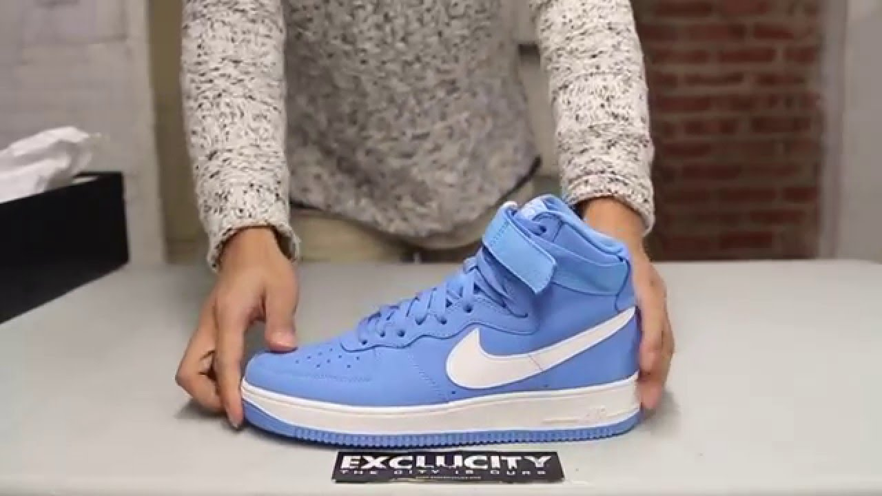 379f29c8f2 Nike Air Force 1 High OG Retro - University Blue - Unboxing Video at ...