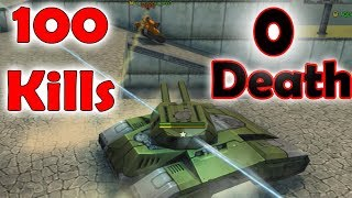 Tanki Online 100 Kills 0 death | Juggernaut mode