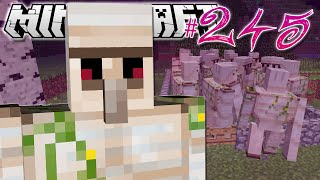 Minecraft | 20 IRON GOLEMS?! | Diamond Dimensions Modded Survival #245