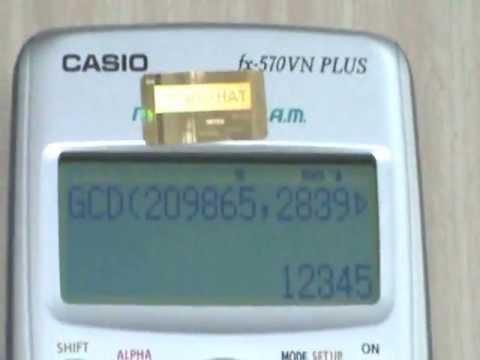 Tìm UCLN Và BCNN Trên Máy Tính CASIO Fx 570VN PLUS