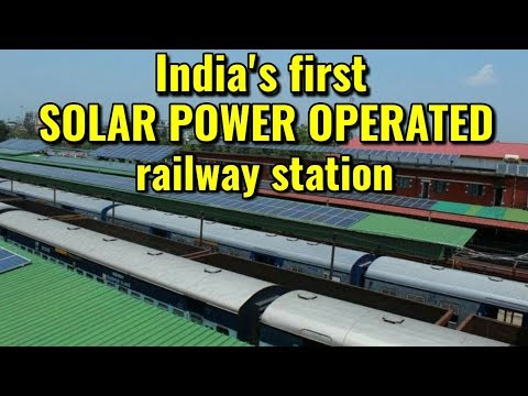 India's first solar power operated railway station