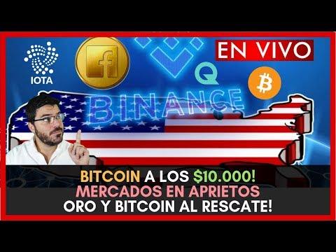 BITCOIN A LOS $10.000!  MERCADOS EN APRIETOS ORO Y BITCOIN AL RESCATE!