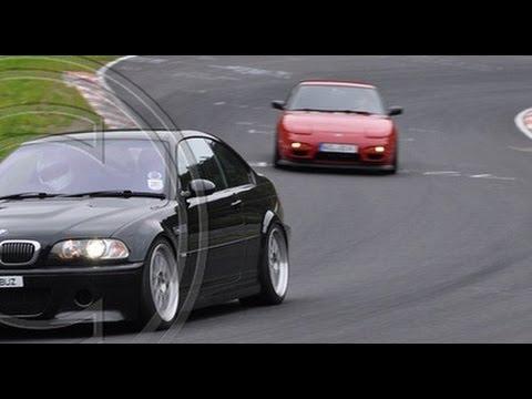 Nissan 200SX Chasing BMW E46 M3 CSL On Nürburgring Nordschleife 03.09.2014 S13 CA18DET