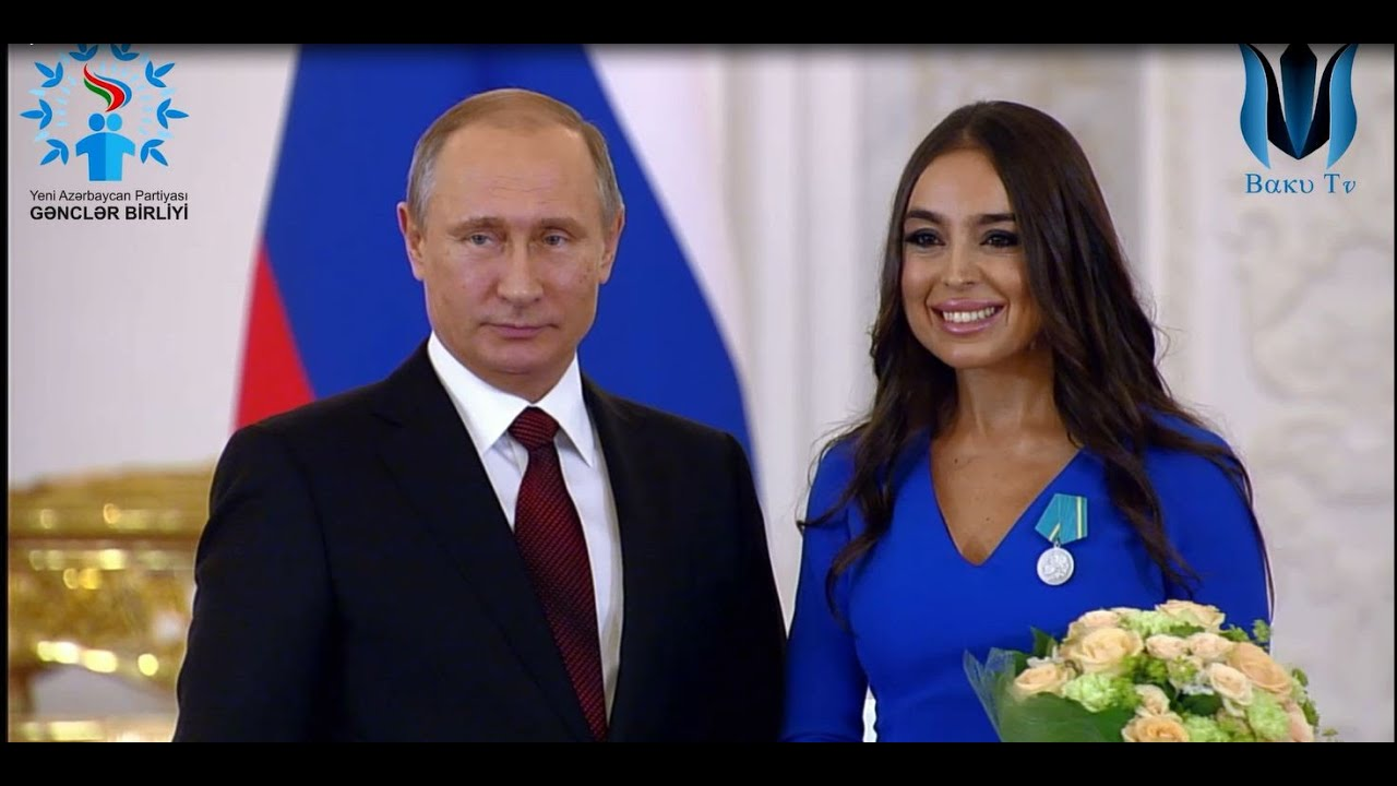 """Vladimir Putin Heydər Əliyev Fondunun vitse-prezidenti Leyla Əliyevaya """"Puşkin"""" medalını təqdim edib"""