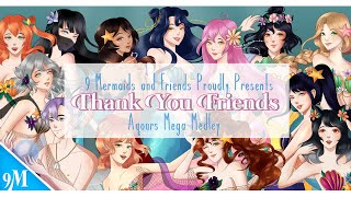 9 Mermaids - Thank You, Friends [2 Year Anniversary Special] AQOURS MEGA MASHUP