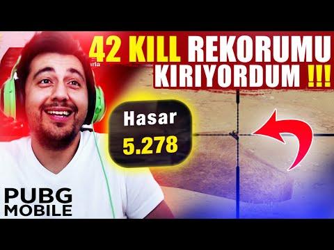 42 KILLS REKORUMU KIRIYORDUM !!! 7. SEZON  SOLO VS SQUAD REKORUM / PUBG MOBILE