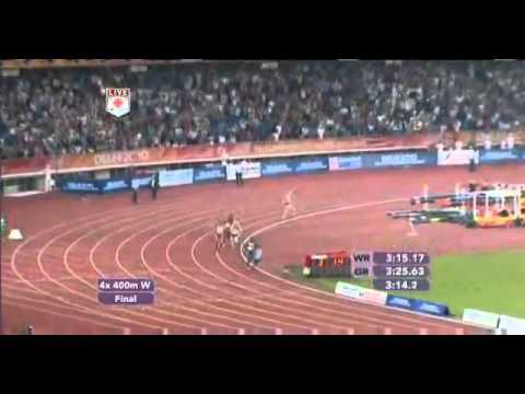 India Wins Athletics Gold [HQ] - Women's 4x400 Relay - Commonwealth Games - 2010 - Delhi