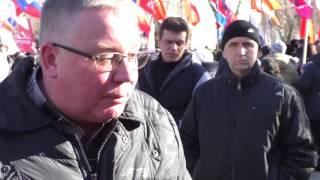 Митинг в Севастополе. Обращение к Путину. Отношение Крымчан к вопросу Донбасса.
