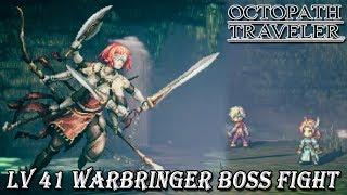 Octopath Traveler - Warbringer Winnehild Boss Battle [Level 41][Low Level]
