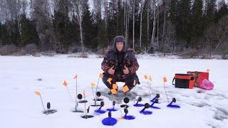 Зимняя рыбалка в январе.Ловля на жерлицы.Жарим шашлык на рыбалке.
