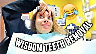GETTING MY WISDOM TEETH REMOVED WITHOUT LAUGHING GAS!   Vlogmas day 17