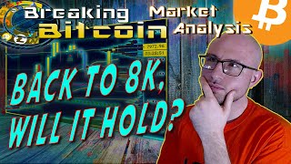 Breaking Bitcoin Market Update - Bounce Back to 8K, What Will Next Week Bring Us?  Live Analysis