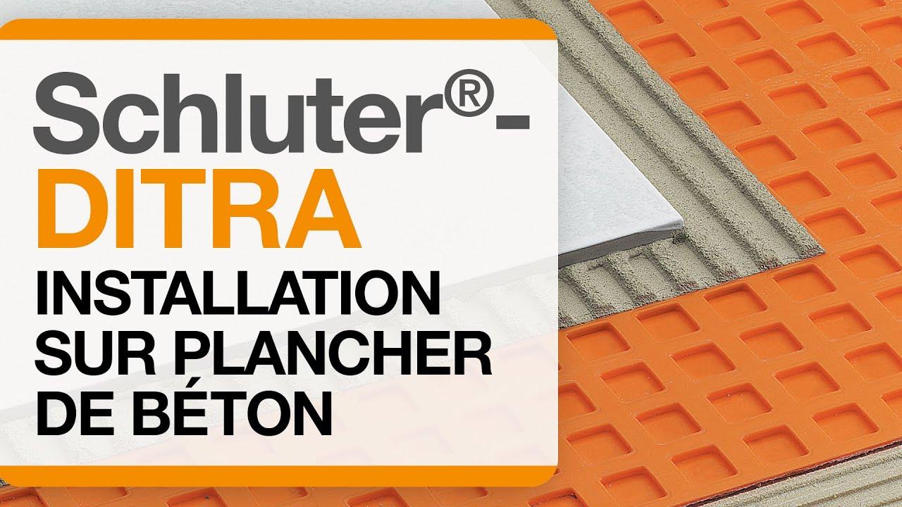 Schluter Ditra Comment Installer Une Membrane De Desolidarisation Sur Un Plancher De Beton