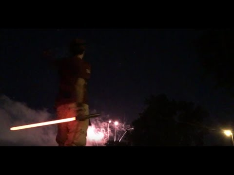 Fireworks and Light Sabers for Canada Day 2017