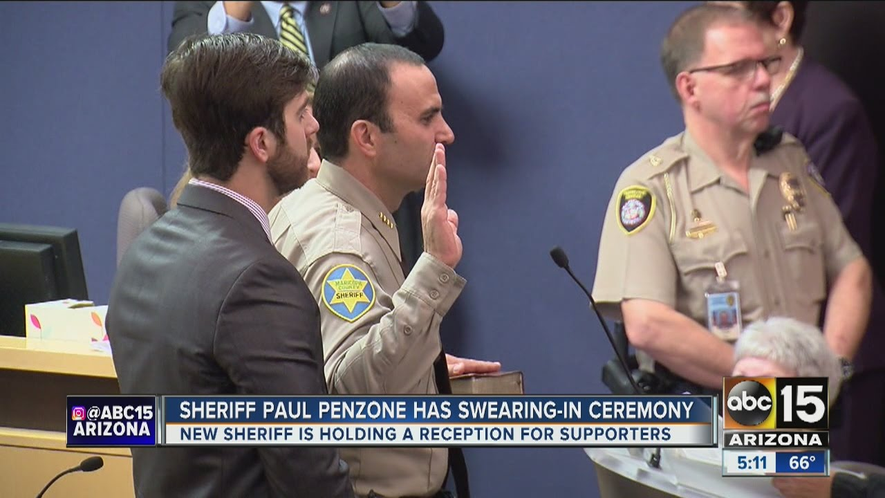 Paul penzone sworn is as new maricopa county sheriff youtube paul penzone sworn is as new maricopa county sheriff xflitez Gallery