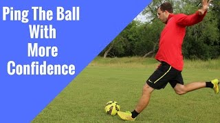 Soccer DRILLS For Midfielders | PINGING The Soccer Ball 30-40 Yards