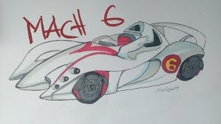 Mach 6 - Day 1 of Inktober Speed Drawing
