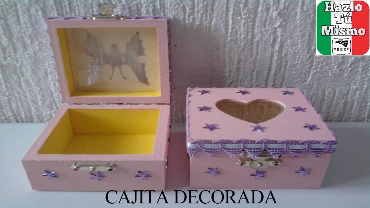 Como Decorar Una Pared De Madera Diy: Como Decorar Cajita Para Regalo - Youtube