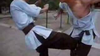 Shaolin monks sparring (rare)