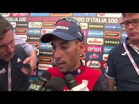 Vincenzo Nibali - Intervista post-gara - Tappa 16 - Giro d'Italia 2017