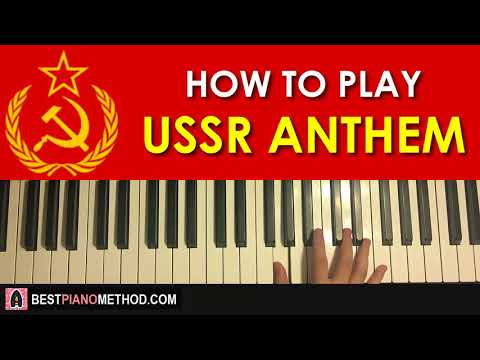 HOW TO PLAY - National Anthem of USSR (Piano Tutorial Lesson)