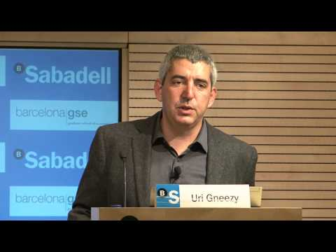 Uri Gneezy: Incentives and Behavior Change (Highlights) - YouTube