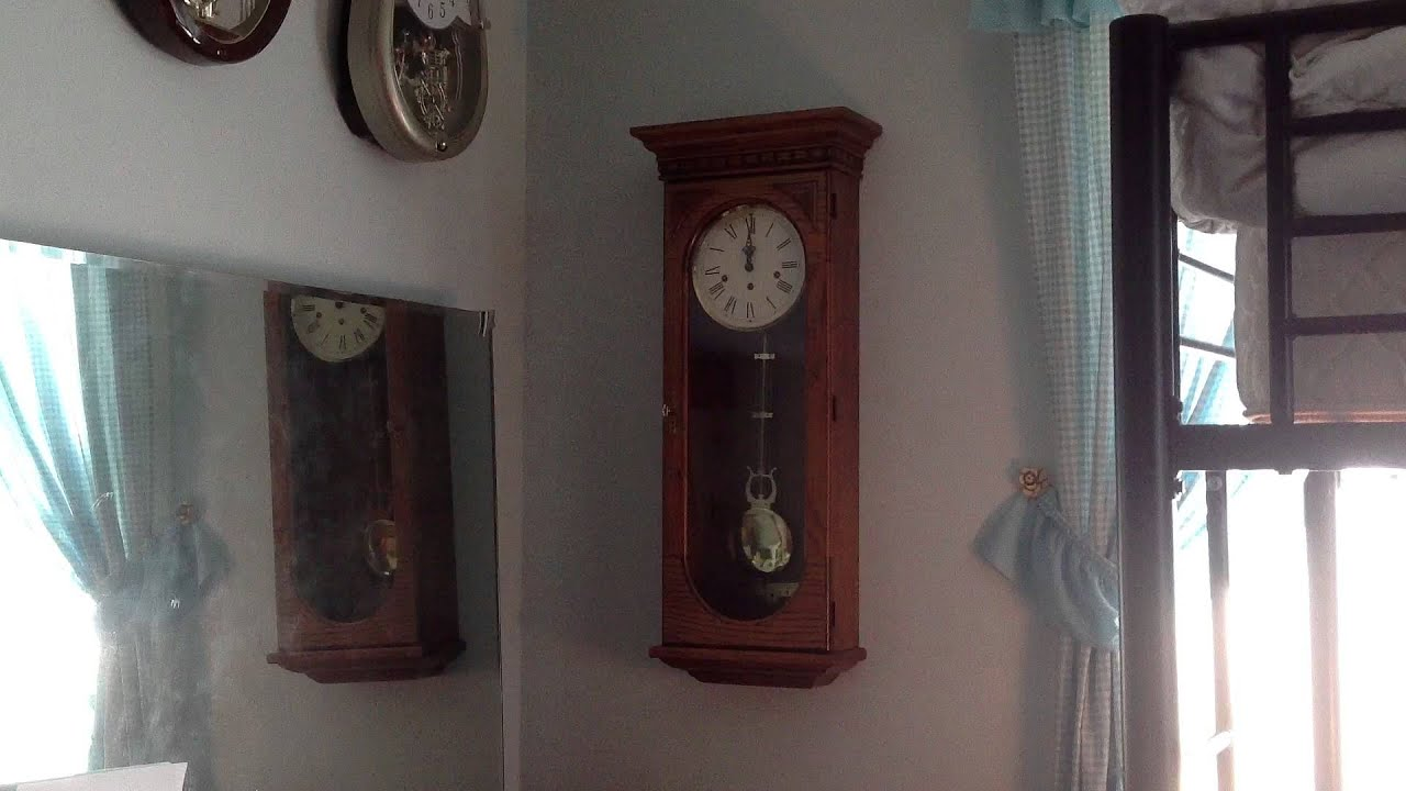 Howard miller westmont key wind wall clock youtube amipublicfo Images