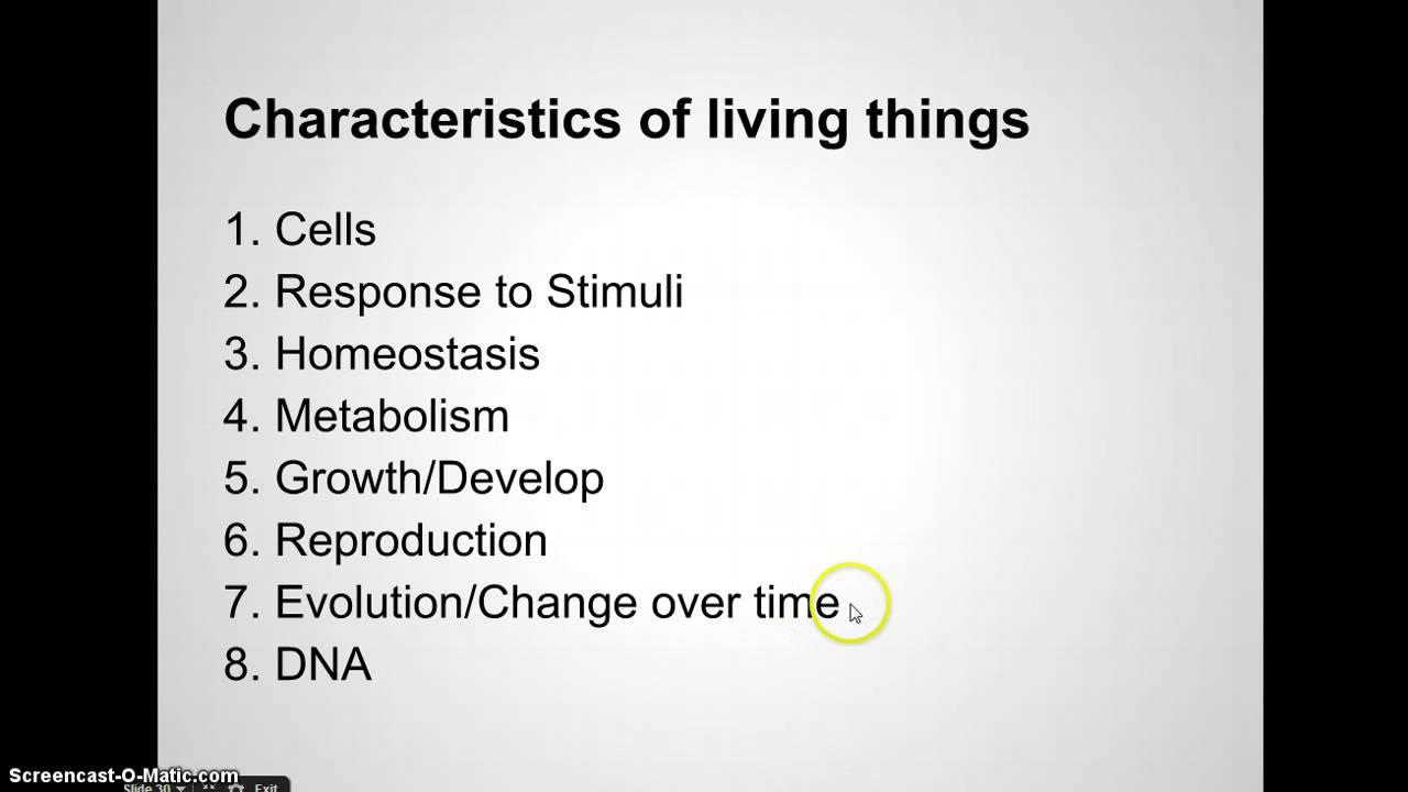 Kozian Biology Unit 1 Video 4 Characteristics of Life - YouTube