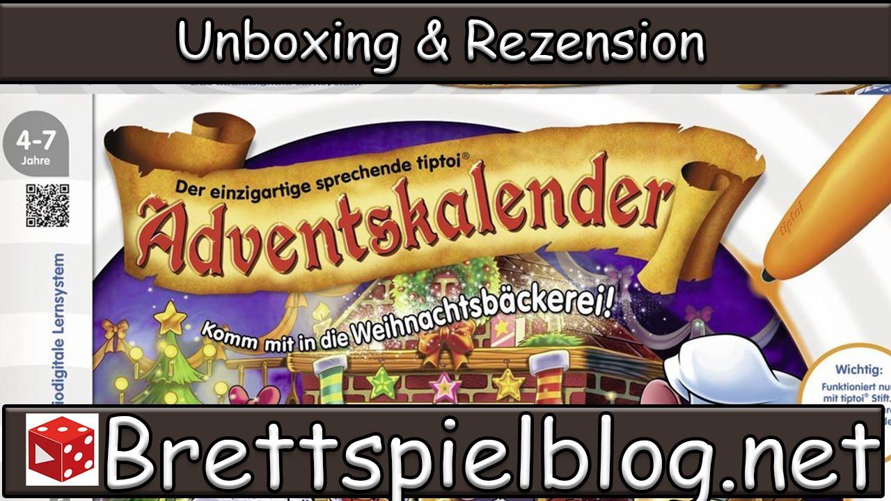Weihnachtskalender Tiptoi.Tiptoi Adventskalender 2015 In Der Weihnachtsbäckerei Unboxing Review Brettspielblog Net