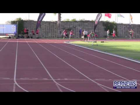 Men's 4x100 Relay Finals At NatWest Island Games, July 19 2013