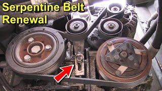 Serpentine Belt Renewal  With Manual Belt Tensioner