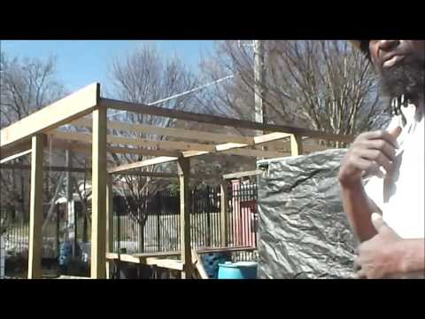 Truly Living Well Center for Natural Urban Agriculture: Billy Lloyd Greenhouse Construction