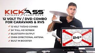 12 Volt TV / DVD combo for Caravans & RVs by KICKASS
